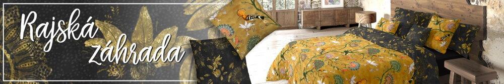 Tenclové obliečky Jardin Mustard | Áčko.sk